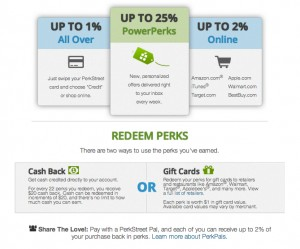 Perk Street Cash Back Rewards Debit Card